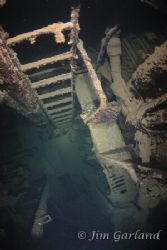 "Engine Room of the ""SUSUKI"" - Chuuk by Jim Garland"