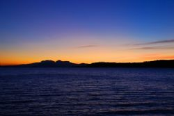 Sunset over Lake Taupo by Samuel Kemp