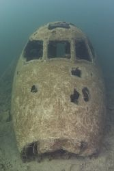 Plane cockpit. Stoney cove. D200, 16mm. by Derek Haslam