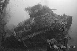 "Tank on the ""San Francisco Maru"" - Chuuk by Jim Garland"