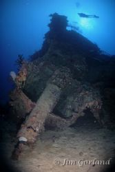 I-169 Periscope and damaged conning tower - Chuuk by Jim Garland