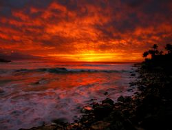 """Waimea Sunset"". Photo taken on Oahu's North Shore. by Mathew Cook"