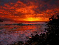 """Waimea Sunset"". Photo taken on Oahu's North Shore. by Mathew Cook"