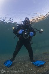 Come on in Mark the water is freezing... Capernwray. D200... by Derek Haslam