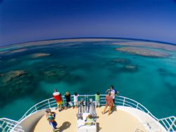 View of the passage going out of Clerke Reef at the Rowle... by Natasha Tate