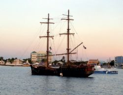 "The pirate ship ""Valhalla"" dock in the Grand Cayman port-... by Andrew Kubica"
