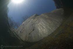 Cliff face. Vivian quarry. North Wales. D200, 10.5mm. by Derek Haslam