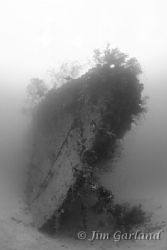 "Bow of the ""Funizuki"" Destroyer - Chuuk. by Jim Garland"