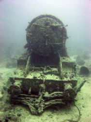 Locomotive off the portside of the Thistlegorm. by Ian Palmer
