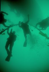 Hang Time, Taken during a dive on the Columbia wreck in C... by Ian T. Ogden