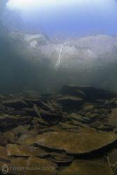 Slate slope. Vivian quarry. North Wales. D200, 10.5mm. by Derek Haslam