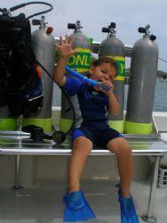 Tatiway wants to be a scuba diver. by Osvaldo Deleon