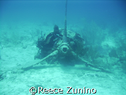 an old b52 bomber engine the rest of the plane went over ... by Reece Zunino