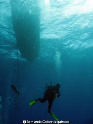 Deep Water Descent: Next to the security stop station, a ... by Edmundo Colon-Izquierdo