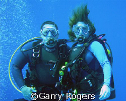 Taken in Cozumel at about 65 feet of water. You would thi... by Garry Rogers