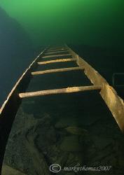 Ladder, Vivian Quarry, N. Wales. 10.5mm. by Mark Thomas