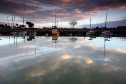""" Harbor Morn"". Photo taken at Haleiwa Small Boat Harbor-... by Mathew Cook"