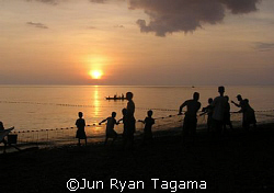 """Sunset Fishing"", shoreline of Gasan, Marinduque, Philipp... by Jun Ryan Tagama"