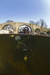 Mark in the river Lune. Cumbria. D200, 10.5mm. by Derek Haslam