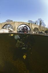 Mark in the river Lune. Cumbria. D200, 10.5mm. by Derek Haslam