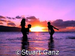 Hawaiian Sunset. Picture taken at Haleiwa beach park of k... by Stuart Ganz