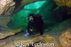 Diver at Blue Springs,Orange city FL. Camera D-200 Nikon by Ray Eccleston