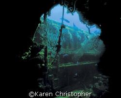 The Wreck of the Mizpah -- West Palm Beach, FL. Taken fro... by Karen Christopher