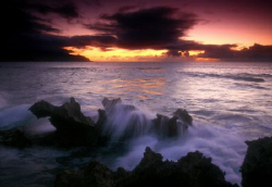 """Kaiaka Bay Sunset"" This photo was taken on Oahu's North ... by Mathew Cook"