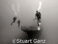 YO-257 shipwreck. Off Oahu's South side in 100 feet of wa... by Stuart Ganz