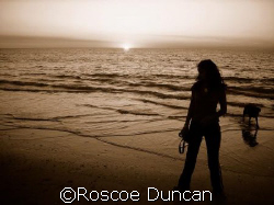 lucinda, molly, ocean, sunset by Roscoe Duncan