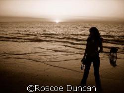 lucinda, molly, ocean, sunset by Roscoe Duncan