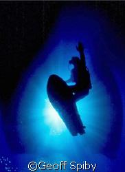 a new extreme sport-underwater snowboarding-started by Da... by Geoff Spiby