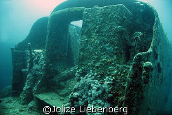 The captain's cabin of the Thistlegorm, Red Sea by Jolize Liebenberg