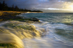 """Evening Light on Beach"". Photo taken in Oahu, HI. Thanks. by Mathew Cook"