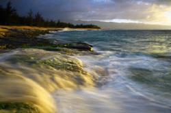 """Evening Light on Beach"". Photo taken in Oahu, HI. Thanks. by Mathew Cook"