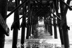 pier off of Catalina Island, CA by Max Krzyzewski