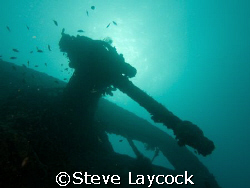 The Thistlegorm, 40mm anti aircraft gun. Taken with Olymp... by Steve Laycock