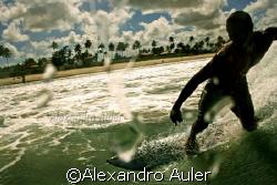 Free surf at Borete beach , near the city of Porto de Gal... by Alexandro Auler