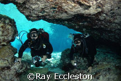 Divers at Ginnie Springs FL. Camera Nikon D-200 by Ray Eccleston