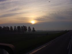 Daybrake, i drove my truck and took the picture with a no... by A. Van Der Plas