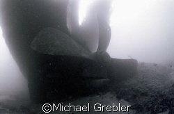 Wreck of the Conestoga near Cardinal in the St. Lawrence ... by Michael Grebler