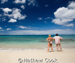 """Vacationers on Beach"" Hope it brings a smile to your fac... by Mathew Cook"