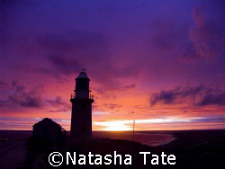 Lighthouse Sunrise in Exmouth overlooking the Bay by Natasha Tate