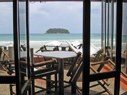 Mama Tri's Boat House looking out onto Kata Beach, Phuket... by Blair Hughes