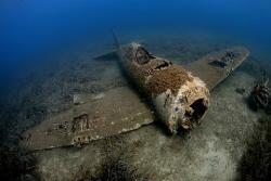Wreck of  a Republic P47 Thunderbolt - Corsica by Jim Garland