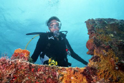 Angela's ( my daughters ) first wreck dive - Benwood, Key... by Michael Salcito