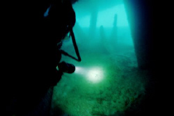 Under the Spiegel Grove -  Navigating the eroded swim thr... by Michael Salcito