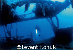 Saint Didier wreck Antalya Turkey by Levent Konuk