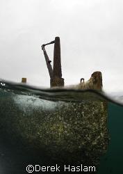 Tangalooma wreck. Moreton island. D200, 10.5mm. by Derek Haslam