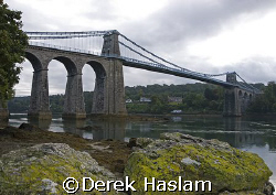 Menai bridge. From the Anglesey side. A great dive site!